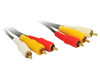 Product image for 0.5M 3RCA to 3RCA Composite Cable OFC | CX Computer Superstore