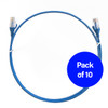 Image for 2m Cat 6 Ultra Thin LSZH Pack of 10 Ethernet Network Cable. Blue CX Computer Superstore