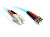Product image for 1M SC-ST OM3 10GB Multimode Duplex Fibre Optic Cable | CX Computer Superstore