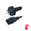 Product image for 1.8m Australian 3Pin Electrical Mains To Standard F IEC Power Cable | CX Computer Superstore