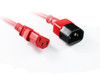 Product image for 0.5M Red IEC C13 to C14 Power Cable | CX Computer Superstore