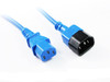 Product image for 1M  Blue IEC C13 to C14 Power Cable | CX Computer Superstore