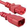 Image for 1.5m IEC C13 to C14 Extension Cord M-F: Red CX Computer Superstore