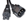 Image for 1m IEC C14 to C5 Power Cord: Black CX Computer Superstore
