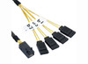 Product image for 1M Internal Mini SAS HD to 4xSATA Cable   CX Computer Superstore