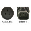 Product image for AU to IEC 60320 C14 Power Plug Adapter   CX Computer Superstore