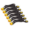 Image for APC AP8706S-WW Power Cord Kit (6 ea), Locking, C13 to C14, 1.8m CX Computer Superstore