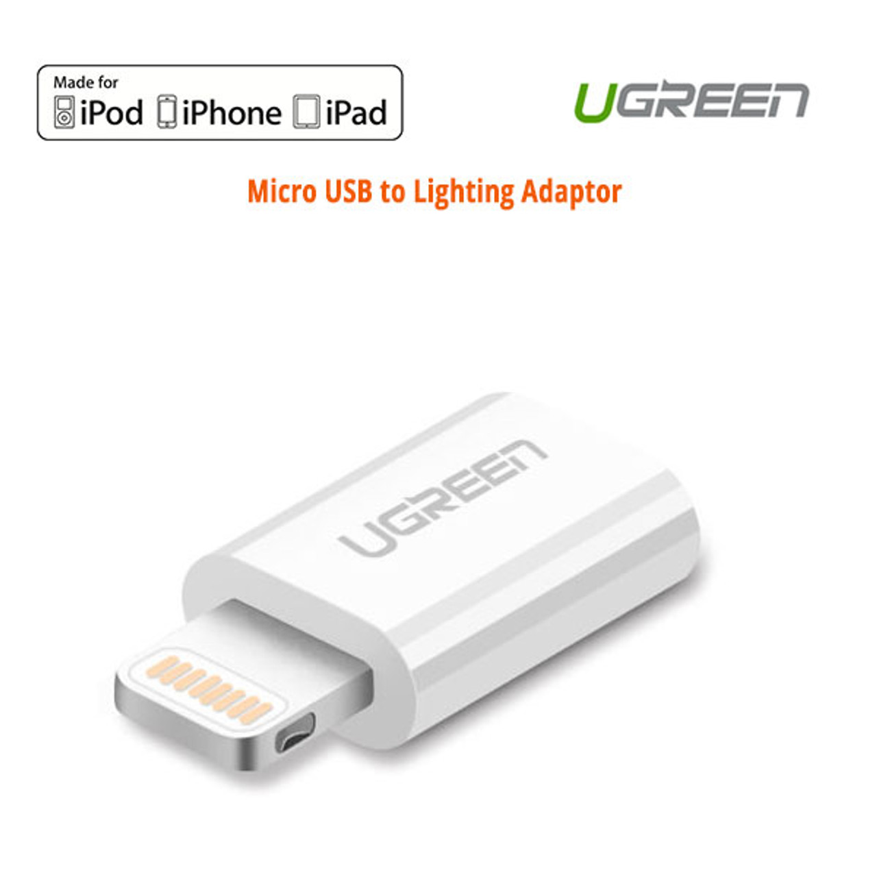 Product image for UGreen 20745 Micro USB to Lighting Adaptor   CX Computer Superstore