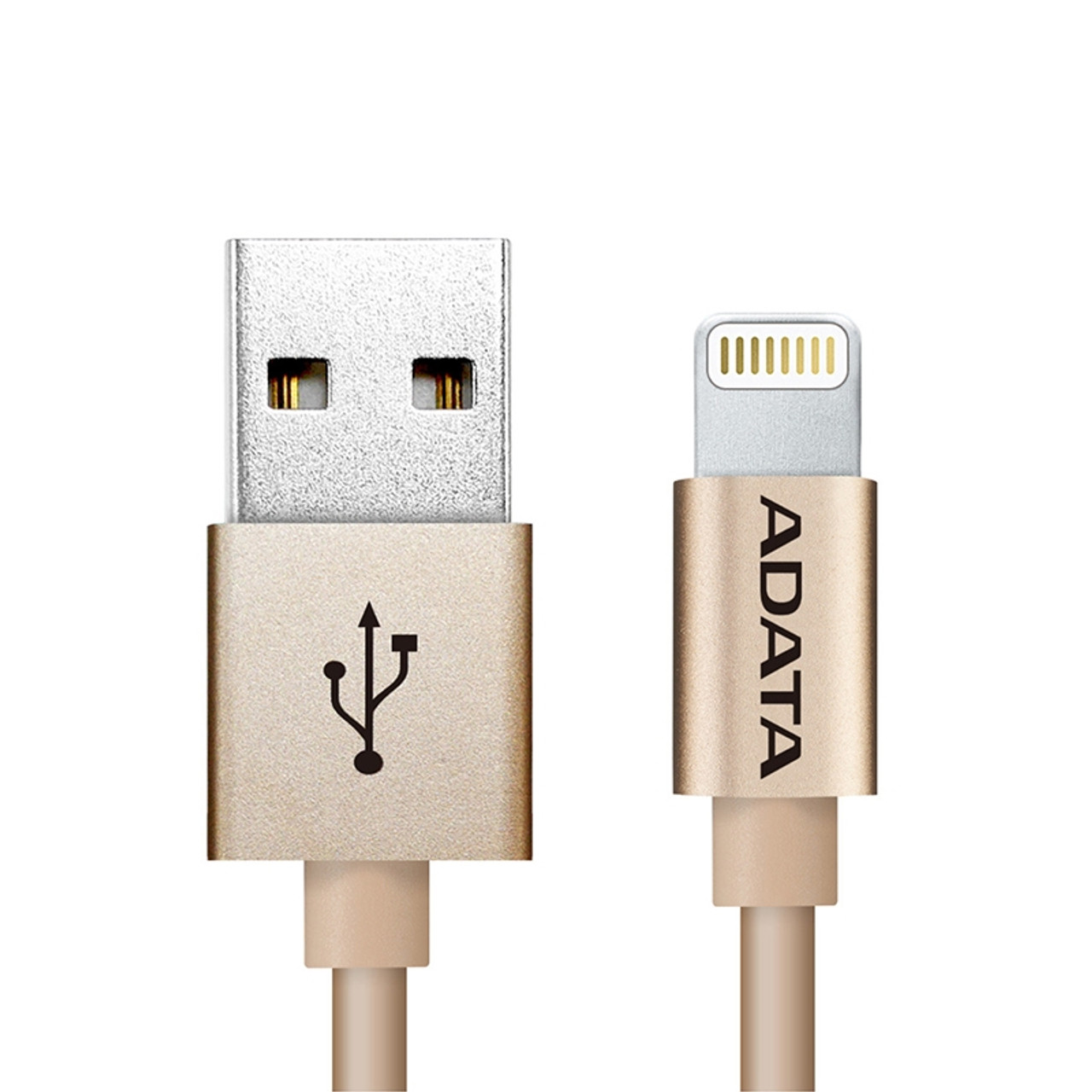 Image for Adata Lightning USB Data Sync/Charge Cable Aluminium - Gold CX Computer Superstore