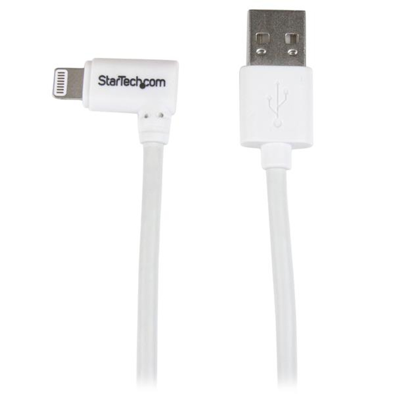 Image for StarTech Angled Lightning to USB Cable - 1 m (3 ft.), White CX Computer Superstore