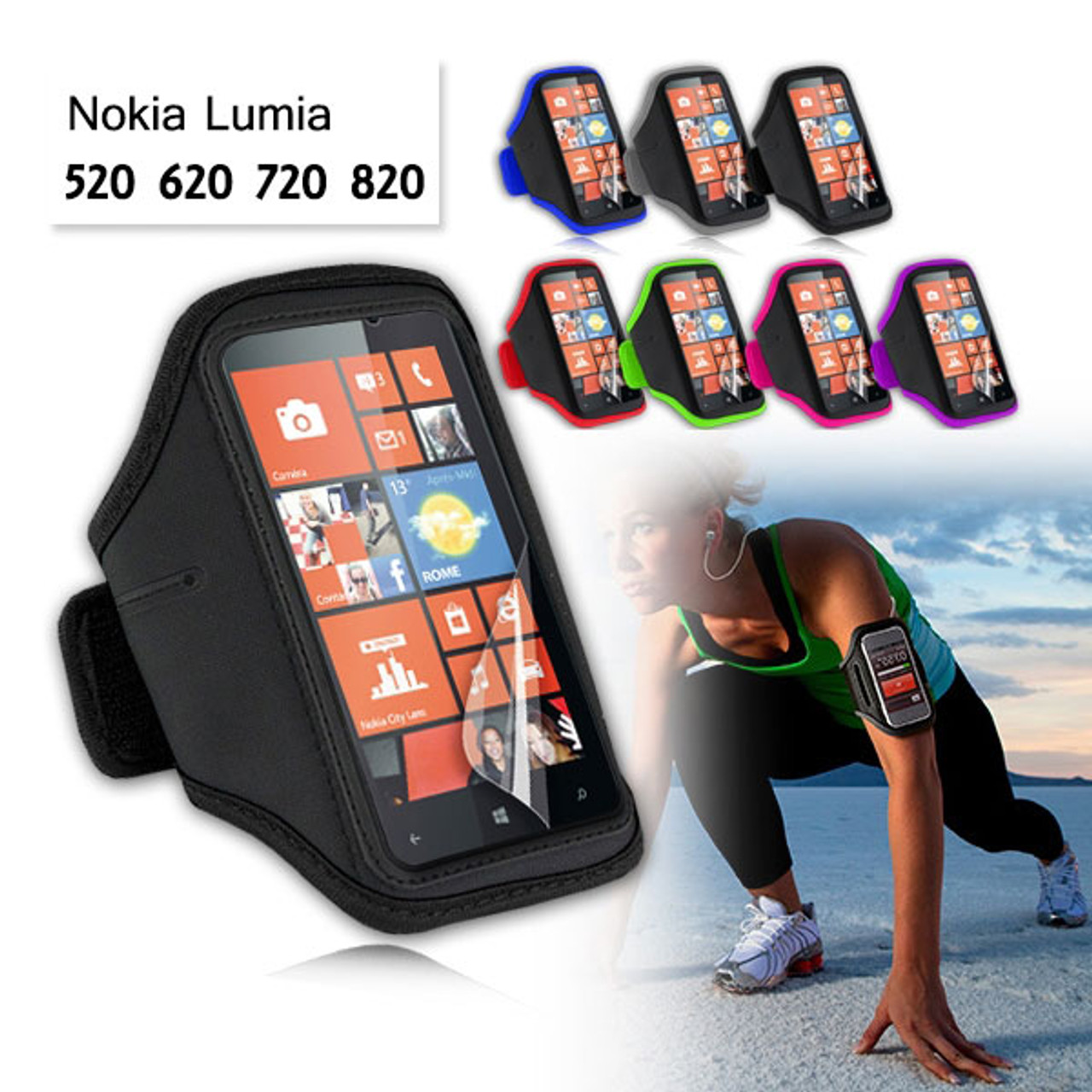 Product image for EZCool Gym Running Sport Armband for Nokia Lumia 720 | CX Computer Superstore