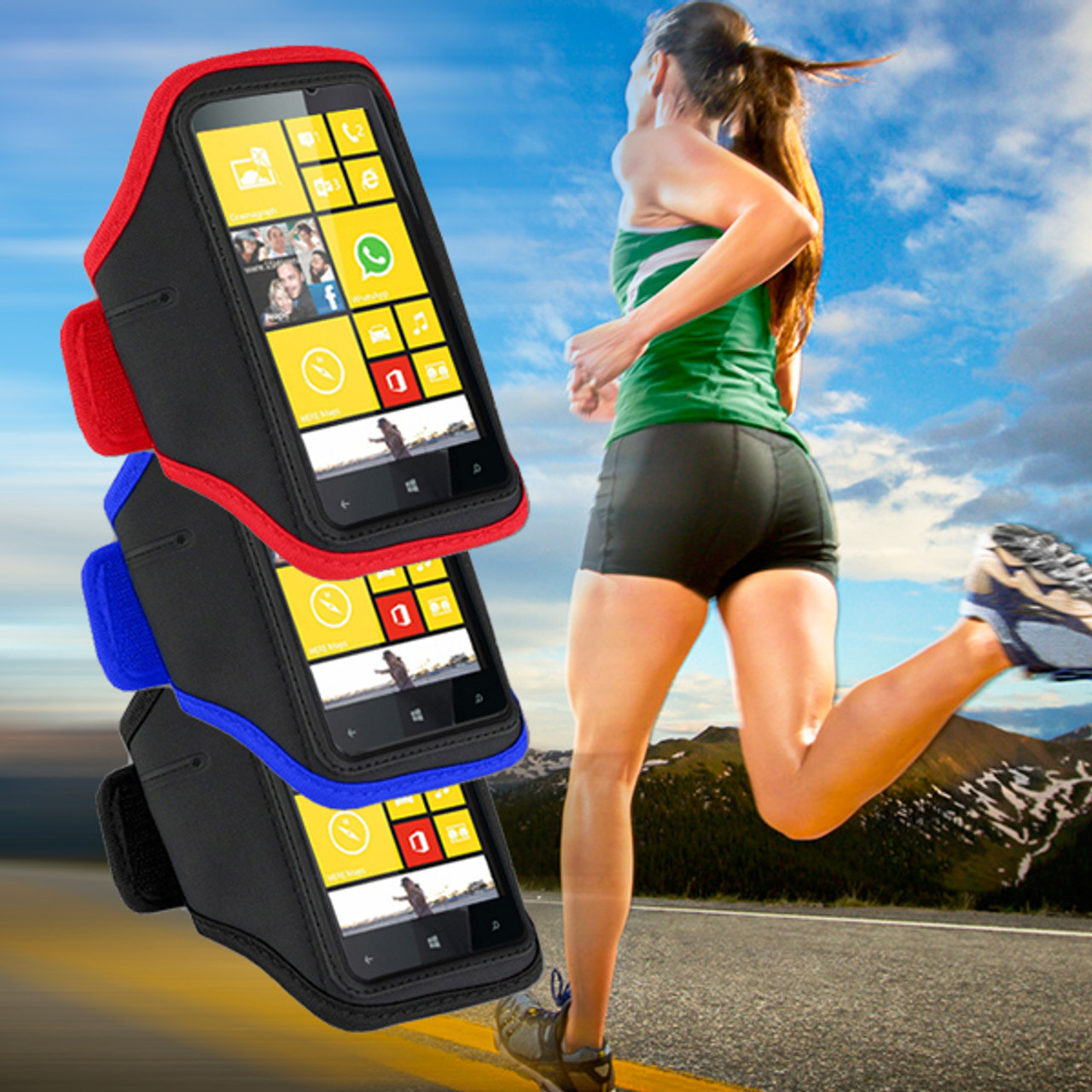 Product image for EZCool Gym Running Sport Armband for Universal Mobile Phone | CX Computer Superstore