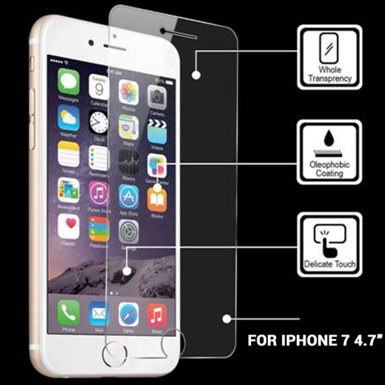 Product image for iPhone 7  Temper Glass Screen Protector  4.7in   CX Computer Superstore