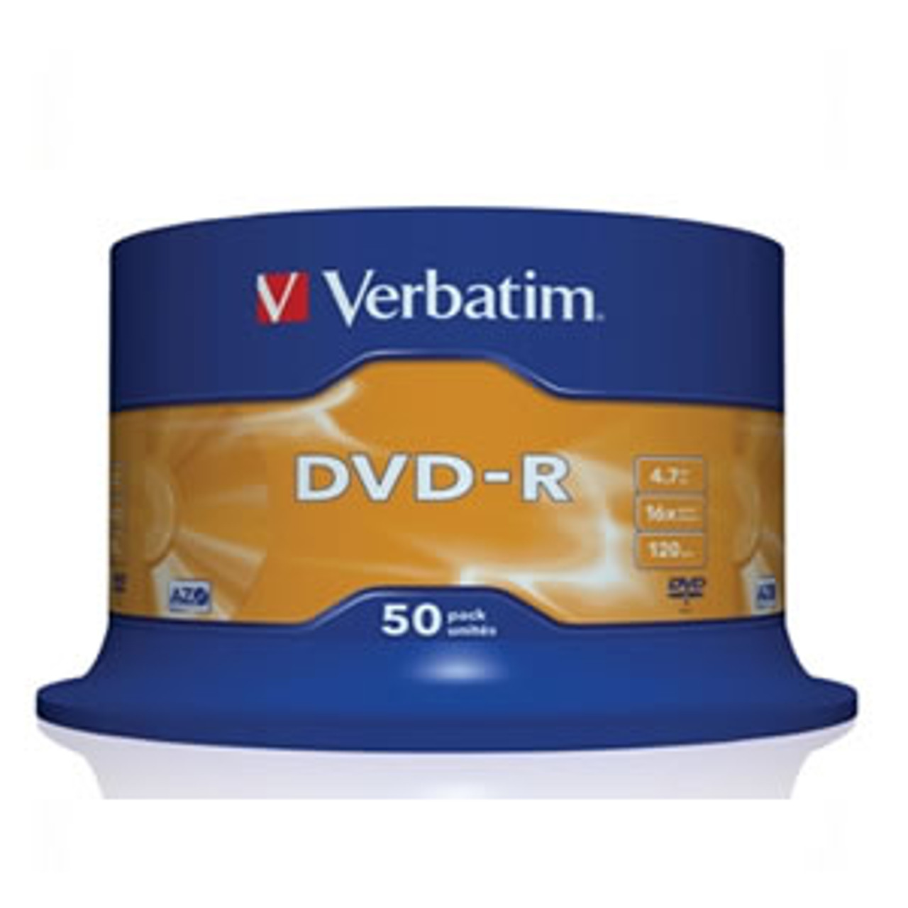 Product image for Verbatim DVD-R 16x White Printable 50pcs   CX Computer Superstore