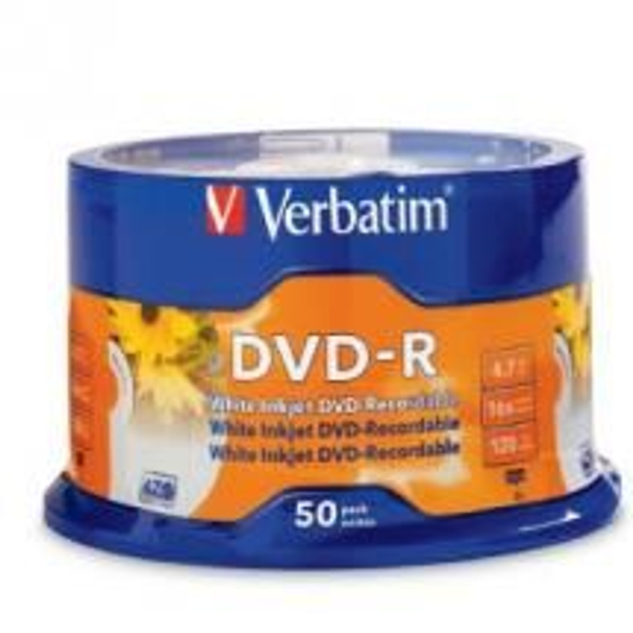 Product image for Verbatim DVD-R16X 4.7GB 50PK 95137 | CX Computer Superstore