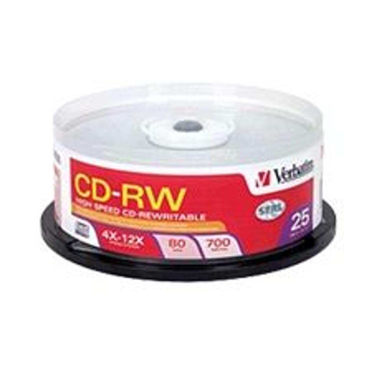 Image for Verbatim 12x High Speed CD-RW 700MB Disc 25 Pack Spindl CX Computer Superstore