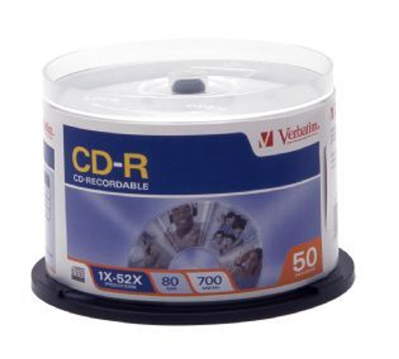 Image for Verbatim CD-R 80 Min 700MB 50 Pack Spindle 52x (94691) CX Computer Superstore