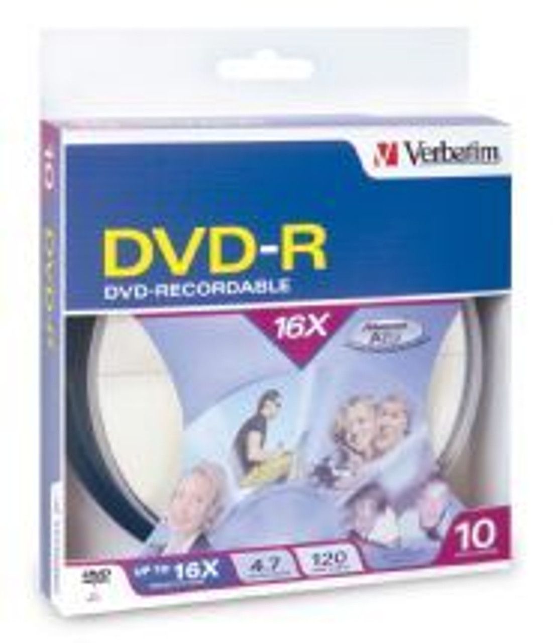 Image for Verbatim DVD-R 4.7GB 10 Pack Spindle 16x (95100) CX Computer Superstore