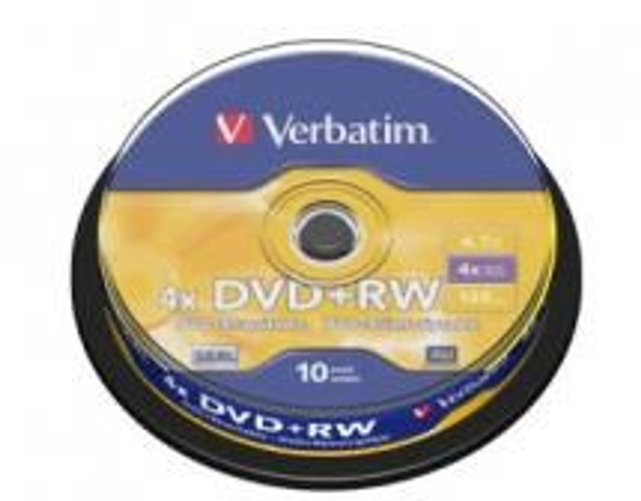 Image for Verbatim DVD+RW 4.7GB 10Pk Spindle 4x (43488) CX Computer Superstore