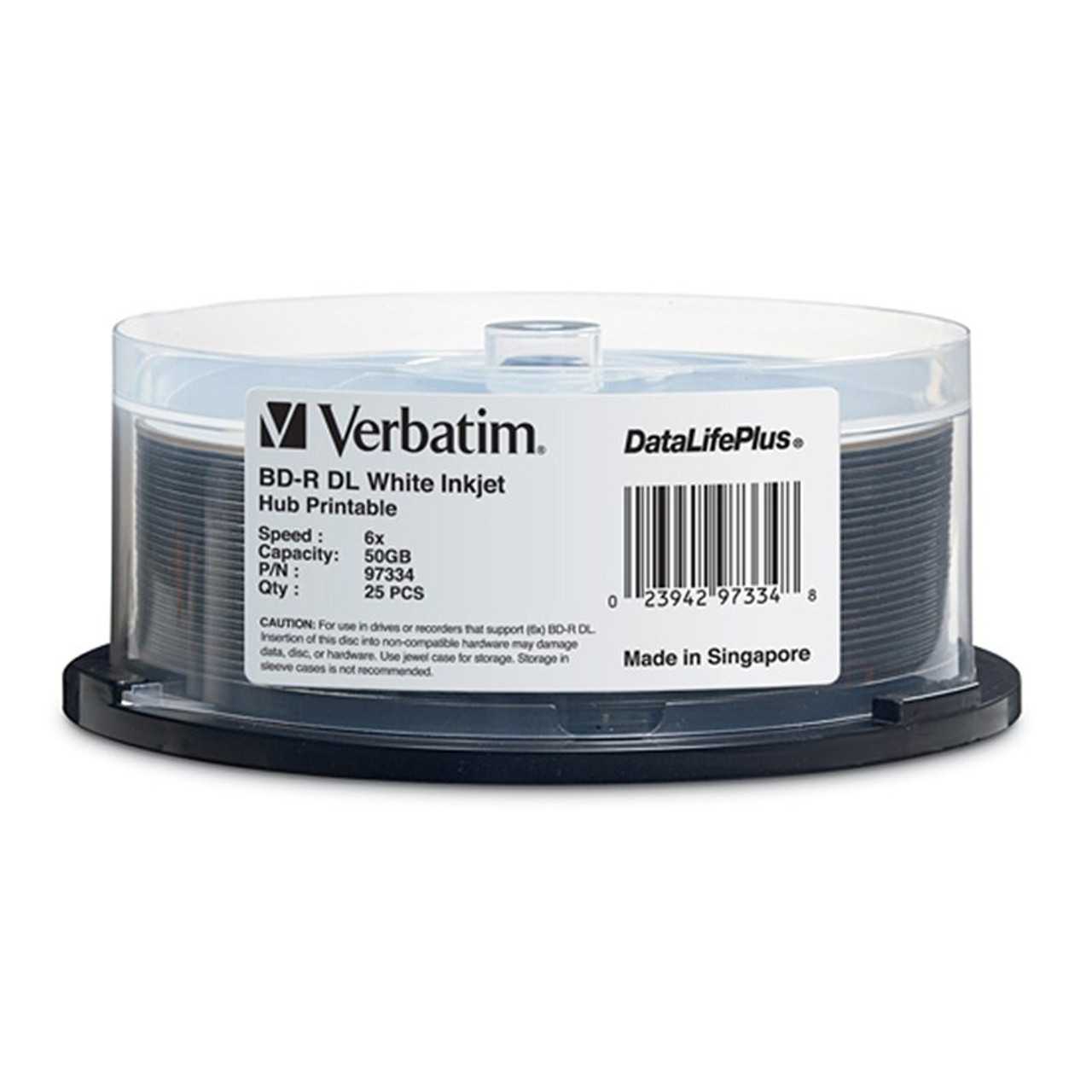Image for Verbatim 97334 50GB BD-R Dual Layer IJP Recordable Disc - 25-Pack Spindle CX Computer Superstore