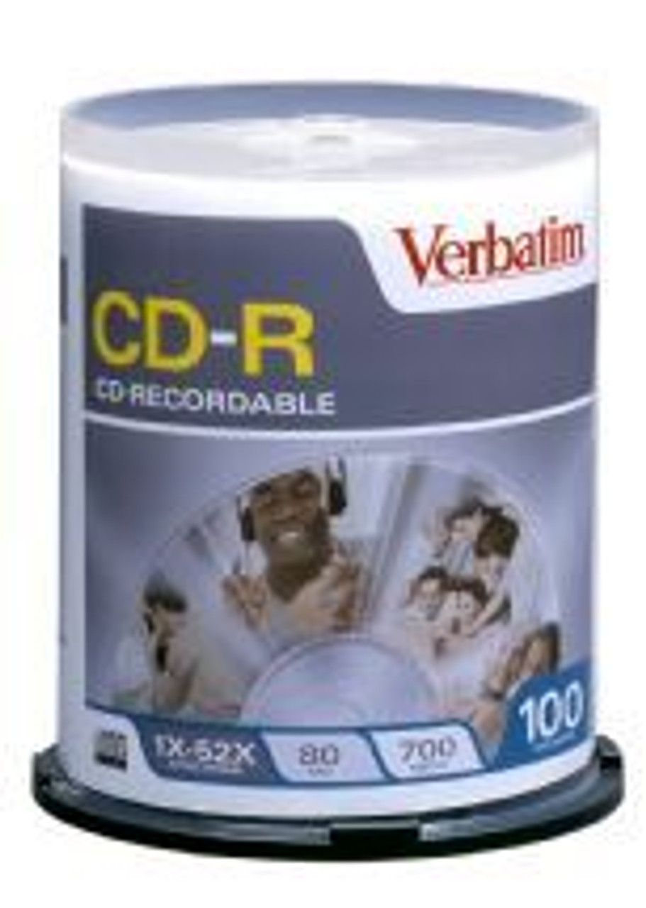 Image for Verbatim CD-R 80 Min Spindle 100 Pack 52x (94554) CX Computer Superstore
