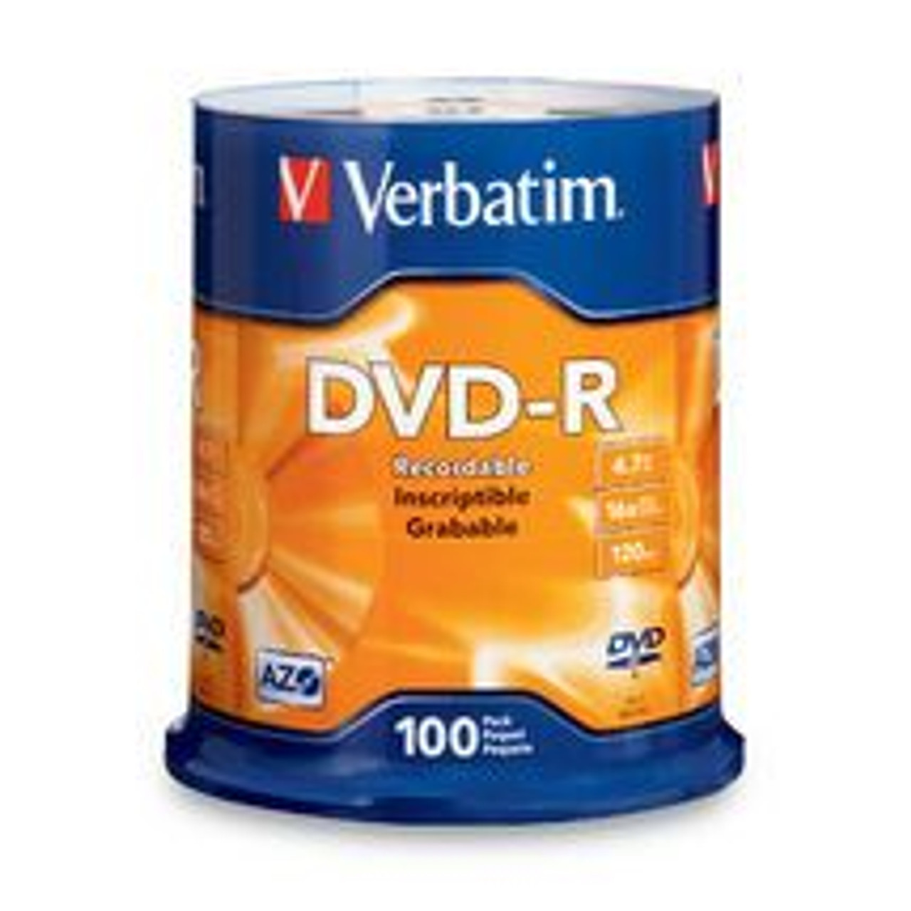 Image for Verbatim DVD-R 4.7GB 100Pk Spindle 16x (95102) CX Computer Superstore