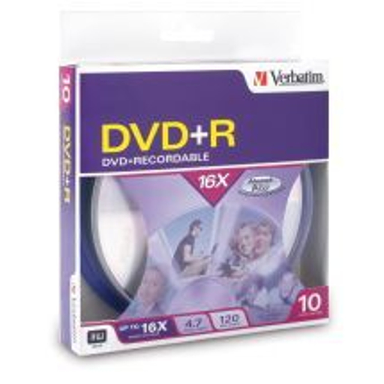 Image for Verbatim DVD+R 4.7GB Spindle 10 Pack 16x (95032) CX Computer Superstore