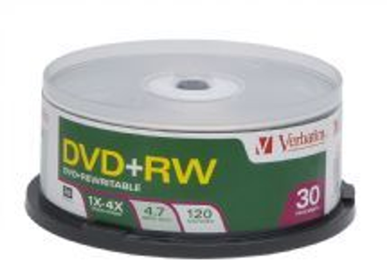 Image for Verbatim DVD+RW 4.7GB 4x 30 pack Spindle (94834) CX Computer Superstore