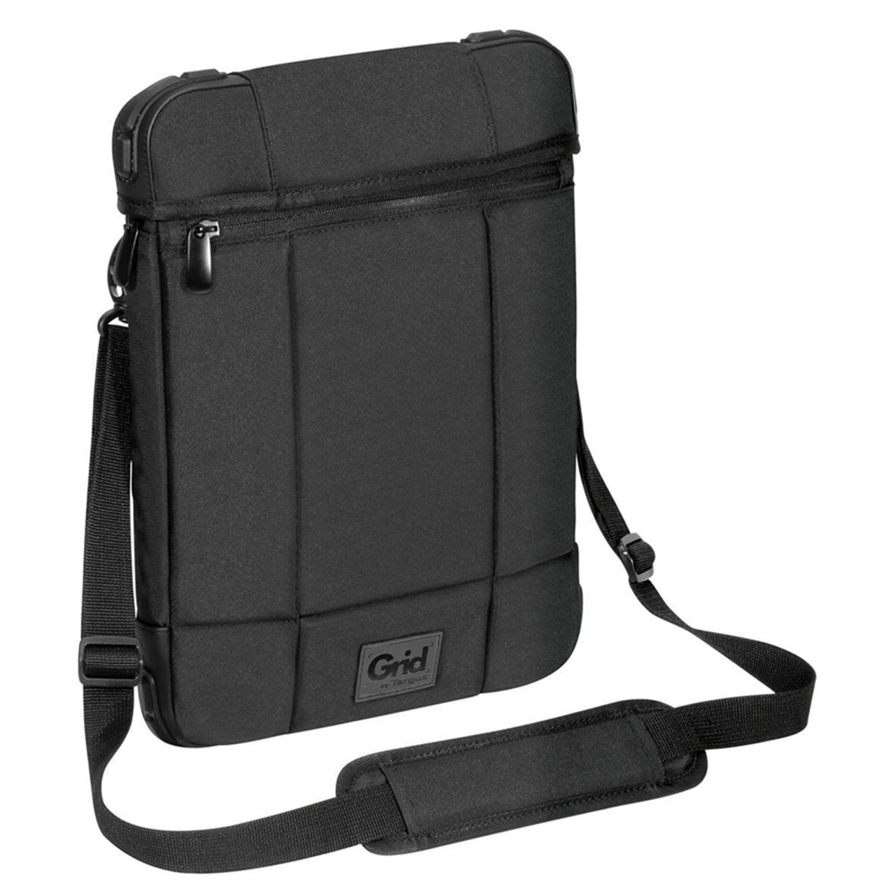 Product image for Targus Grid 12in Vertical Hooded Slipcase - Black-  Perfect for Surface   CX Computer Superstore