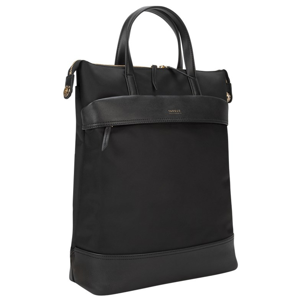 Image for Targus 15in Newport Convertible 2-in-1 Tote/Backpack - Black CX Computer Superstore