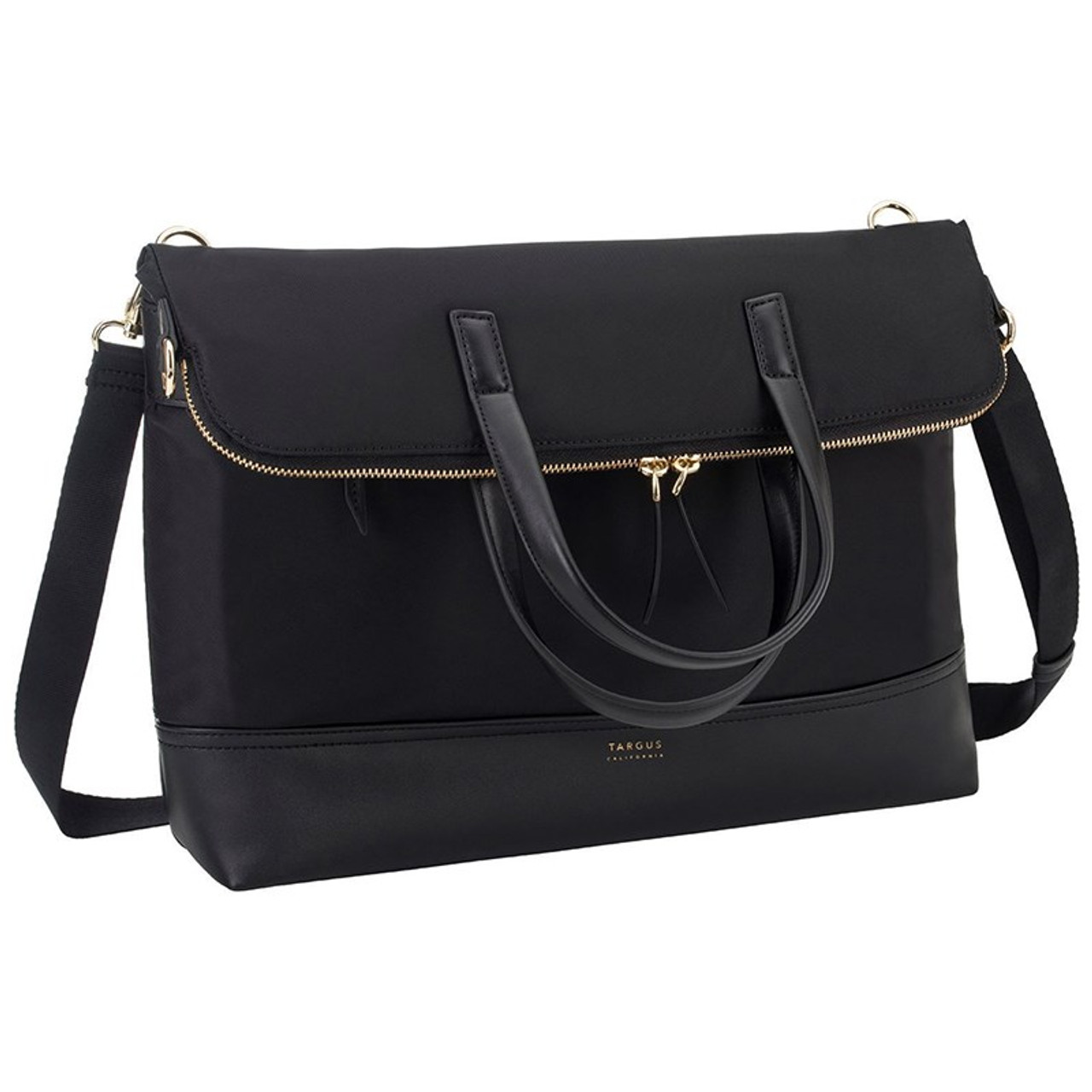 Image for Targus 15in Newport Convertible 2-in-1 Tote/Messenger Bag - Black CX Computer Superstore