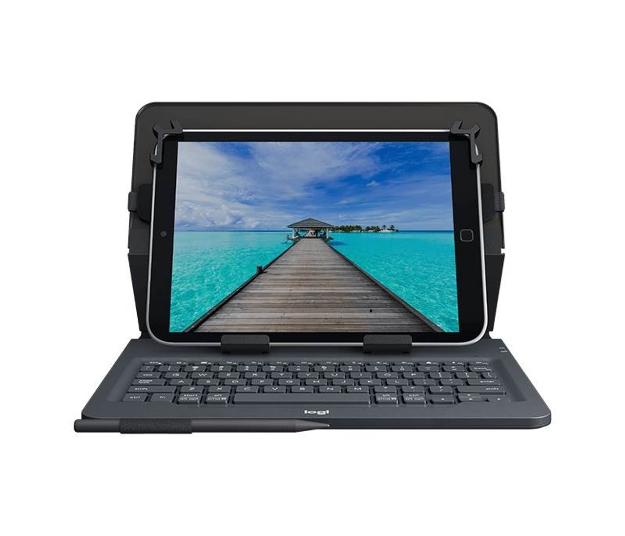 Image for Logitech Universal Folio with Integrated Keyboard for 9-10in Tablets CX Computer Superstore