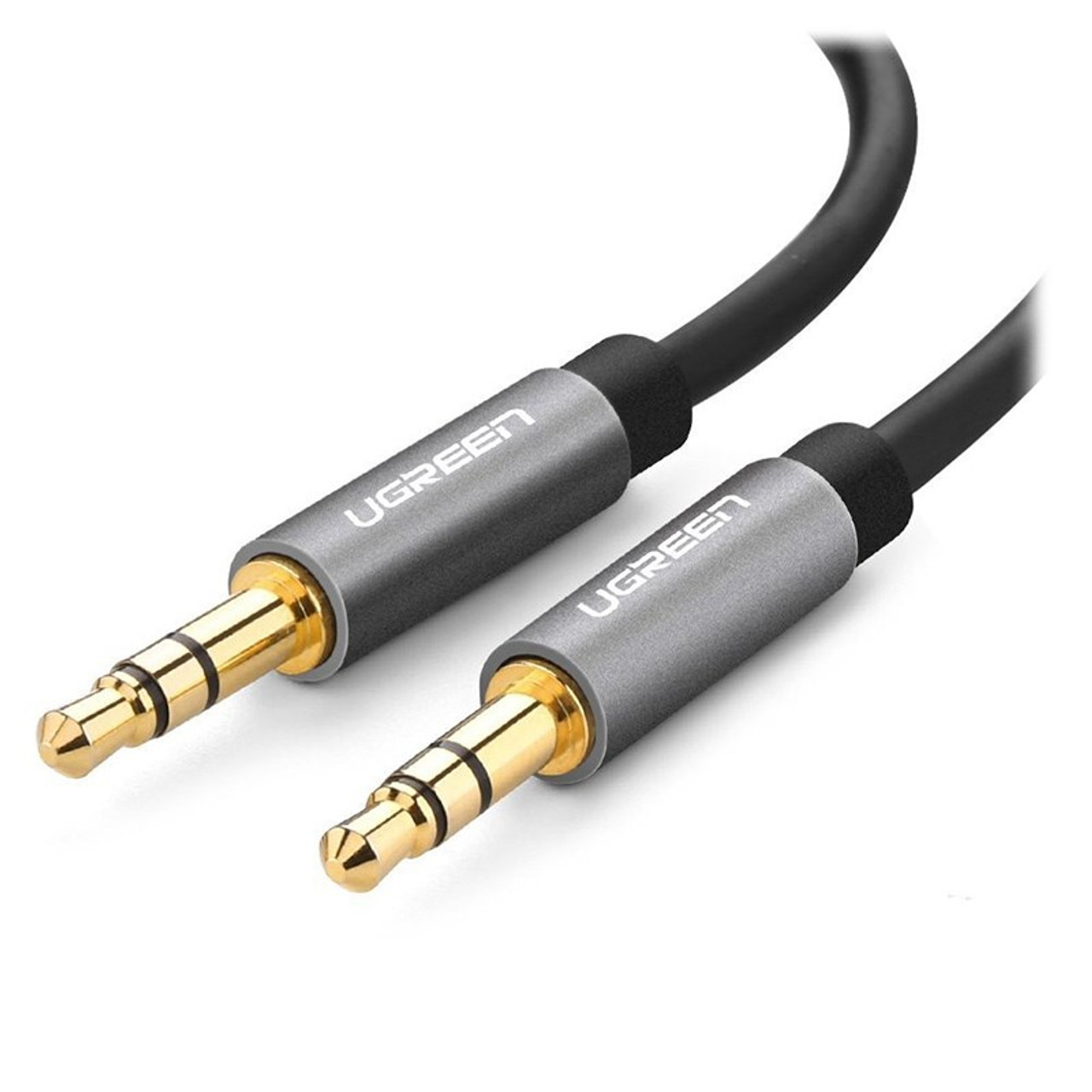 Image for UGreen 10736 3M 3.5mm to 3.5mm M/M AUX Audio Cable - Grey CX Computer Superstore