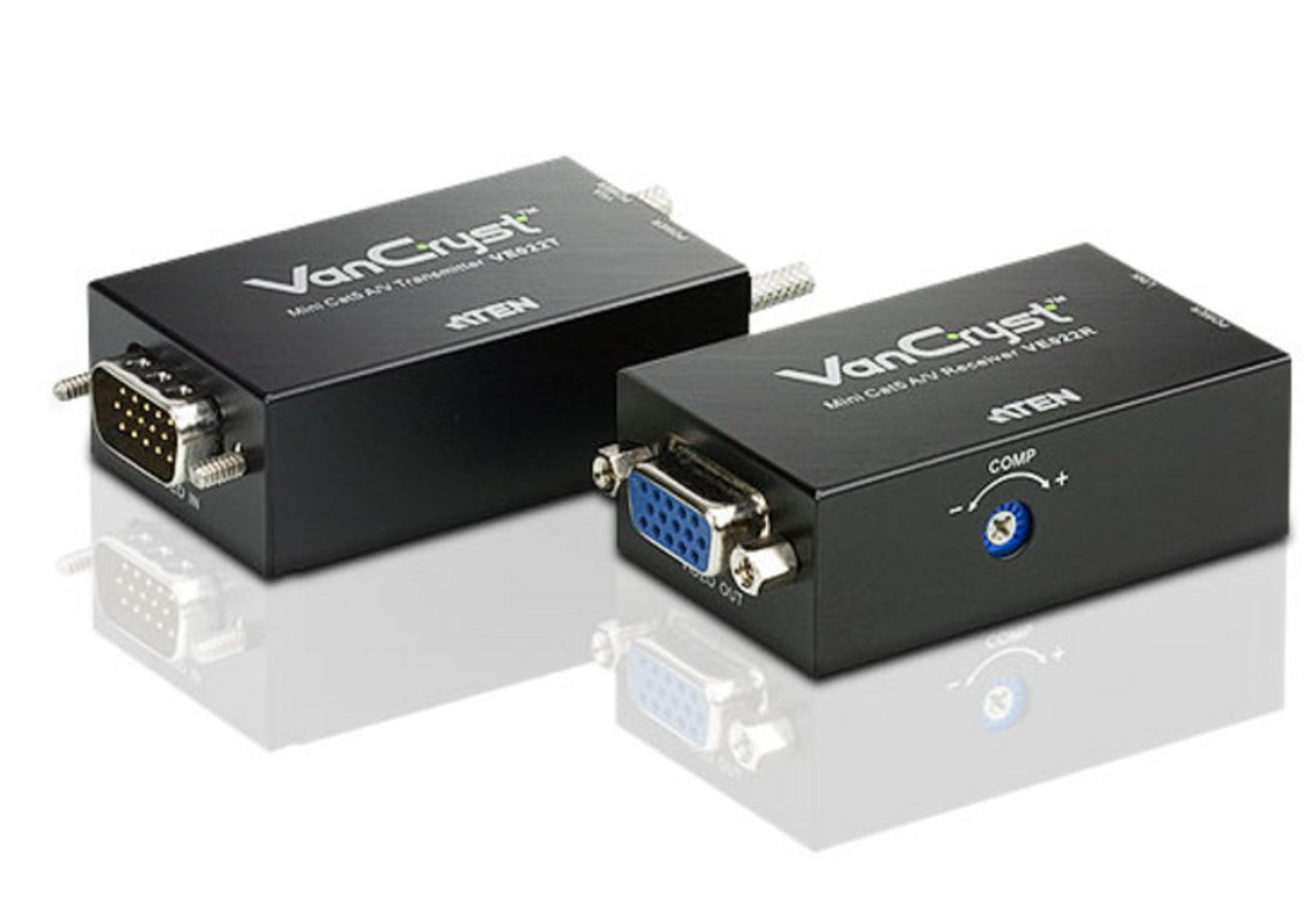 Image for ATEN VanCryst VE022 Mini VGA/Audio Cat5 Extender - 1280x1024 at 150m CX Computer Superstore