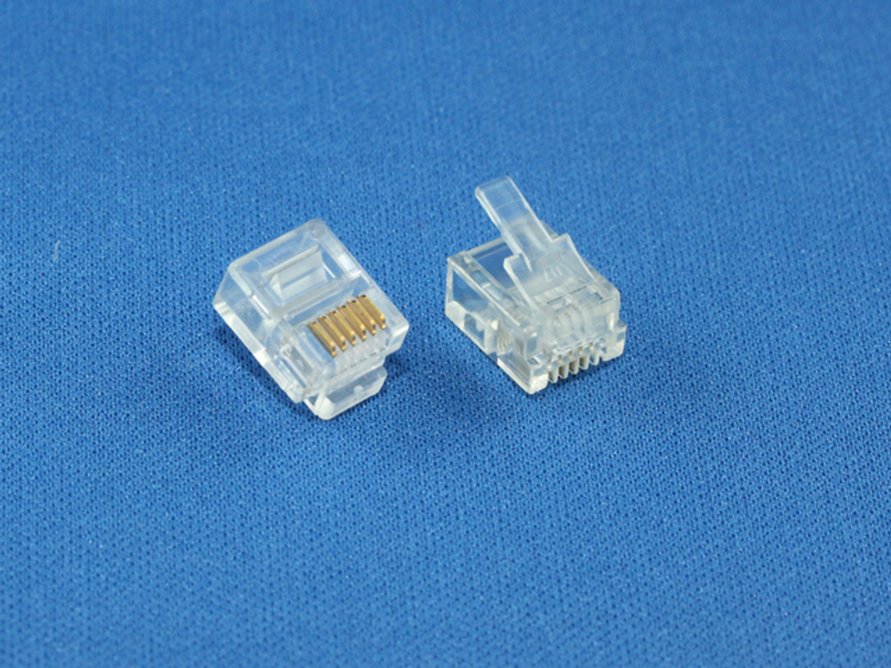 Product image for 6P6C Connector for DIY cabling | CX Computer Superstore
