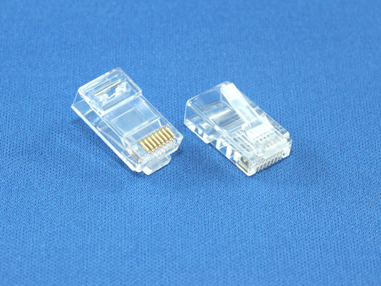 Product image for RJ-45 8P8C Connector For Stranded Cat5E Cable   CX Computer Superstore