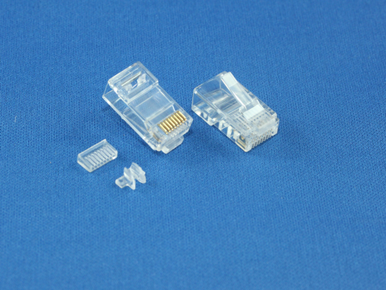 Product image for RJ-45 8P8C Connector For Cat6 Stranded Cable   CX Computer Superstore