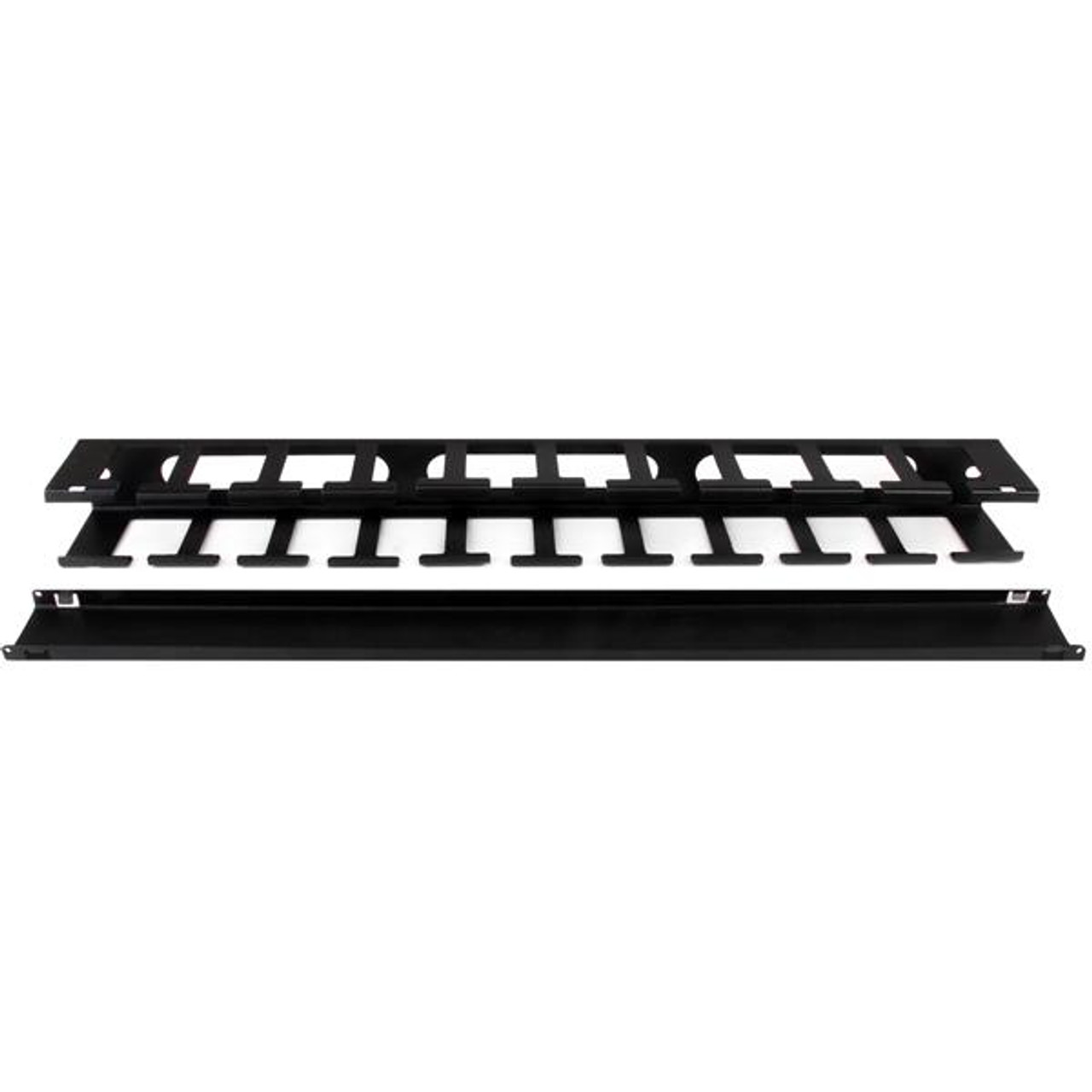 Image for StarTech 1U Covered Cable Duct - Horizontal Cable Organizer CX Computer Superstore