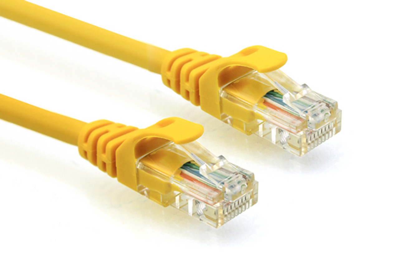 Product image for CAT5e PATCH CORD 1M YELLOW Network Cable 31896   CX Computer Superstore