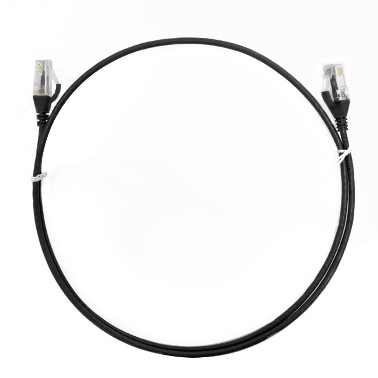 Image for 0.15m Cat 6 RJ45 RJ45 Ultra Thin LSZH Network Cables  : Black CX Computer Superstore