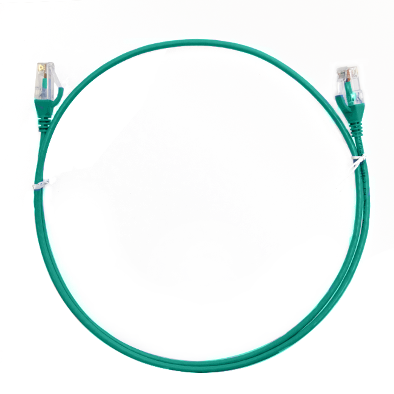 Image for 0.75m Cat 6 RJ45 RJ45 Ultra Thin LSZH Network Cables  : Green CX Computer Superstore