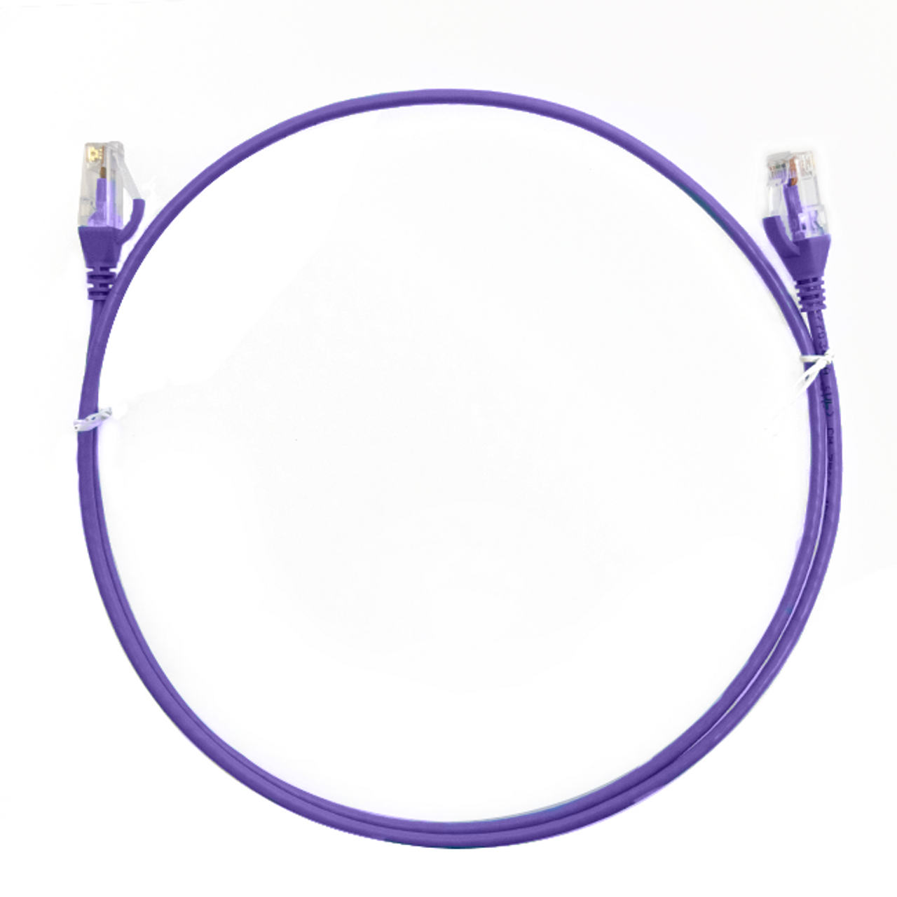 Image for 1m Cat 6 Ultra Thin LSZH Ethernet Network Cables: Purple CX Computer Superstore