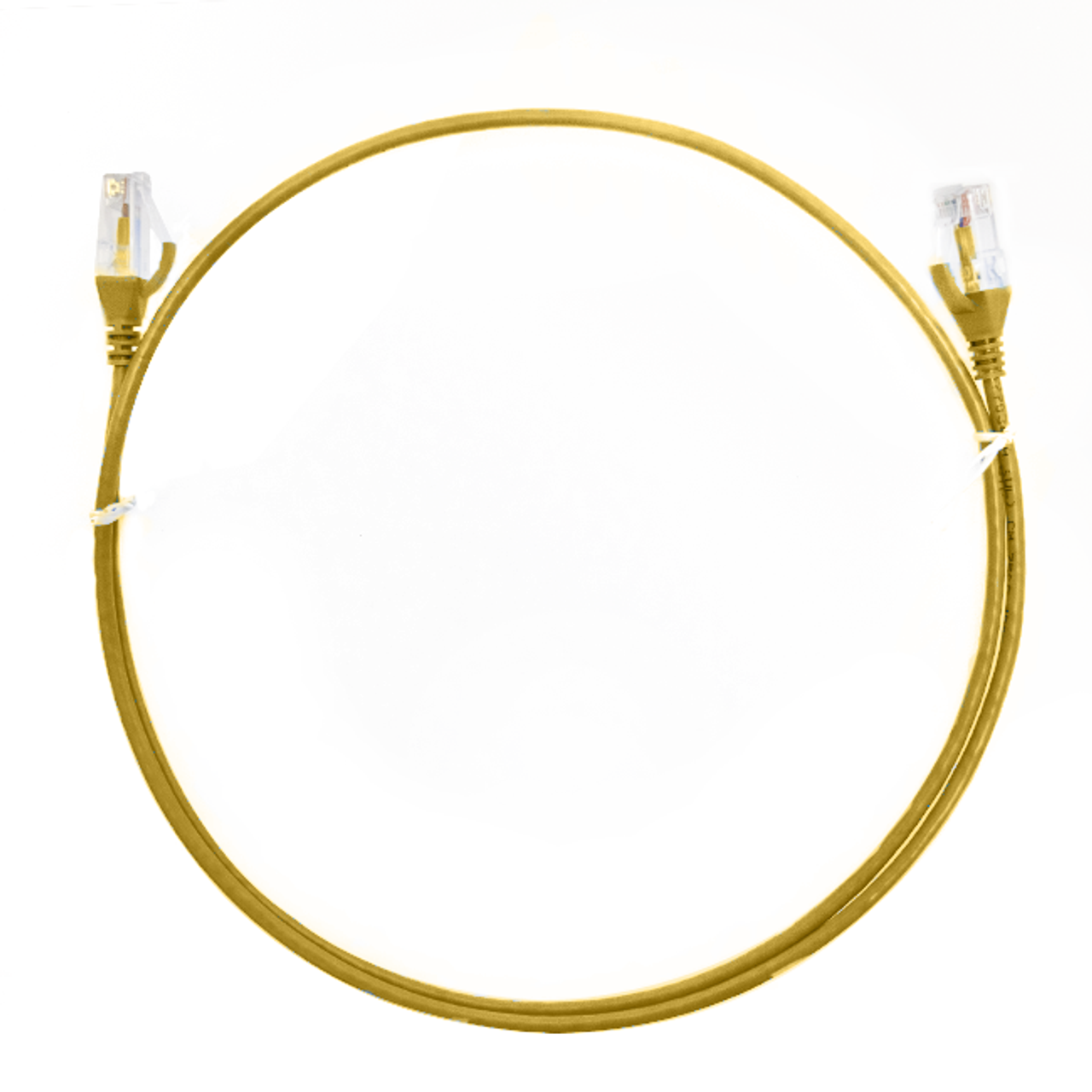 Image for 2m Cat 6 Ultra Thin LSZH Ethernet Network Cables: Yellow CX Computer Superstore