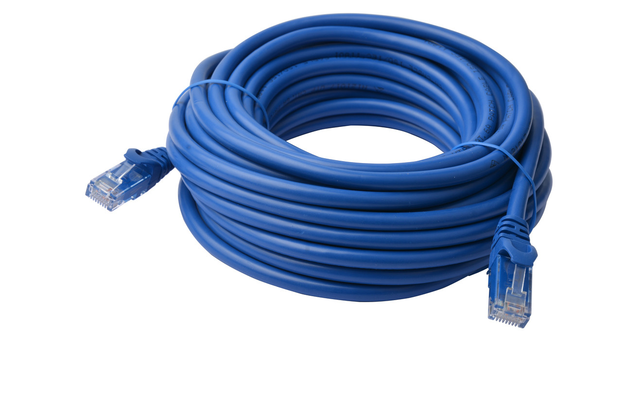 Product image for 50m Cat 6a UTP Ethernet Cable, Snagless - 50m Blue | CX Computer Superstore