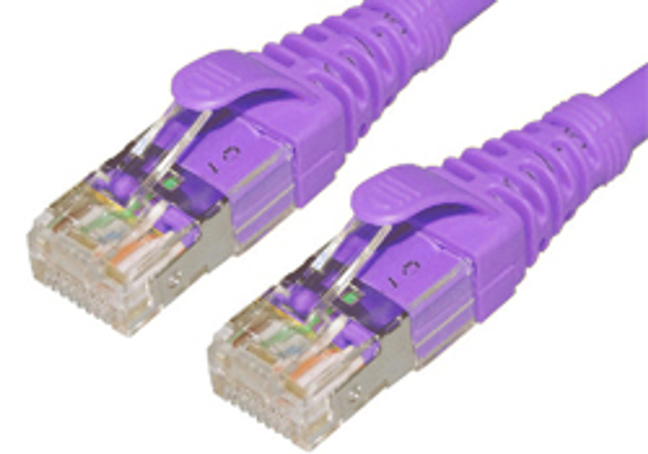 Product image for Comsol 1.5m 10GbE Cat 6A S/FTP Shielded Patch Cable - Purple   CX Computer Superstore