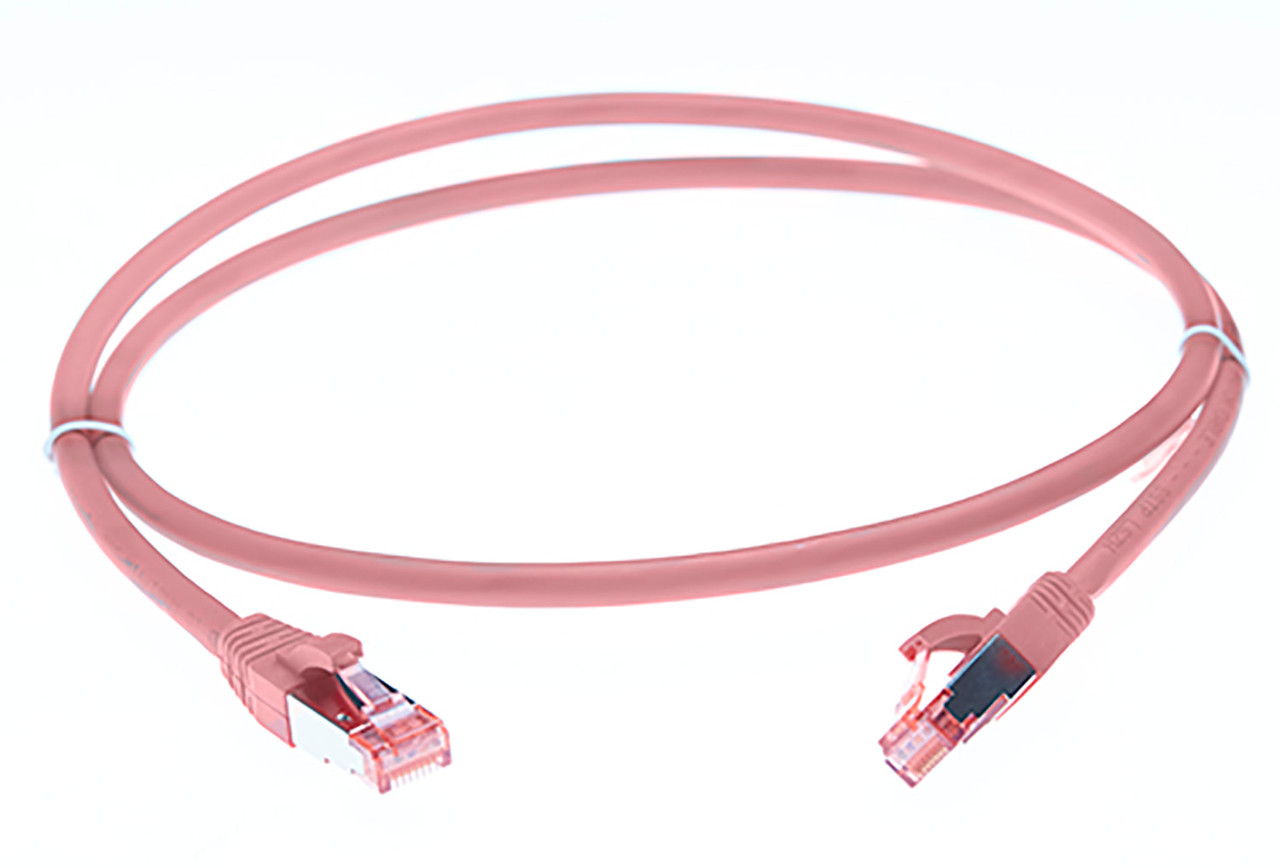 Image for 0.25m Cat 6A S/FTP Ethernet Network Cable. Pink CX Computer Superstore