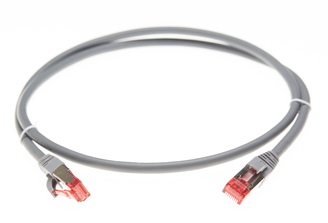 Image for 0.5m Cat 6A S/FTP Ethernet Network Cable. Grey CX Computer Superstore