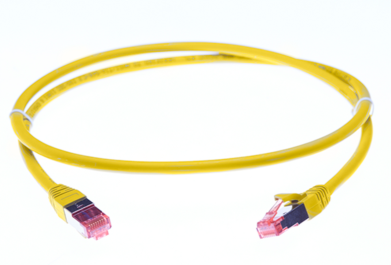 Image for 1m Cat 6A S/FTP LSZH Ethernet Network Cable. Yellow CX Computer Superstore