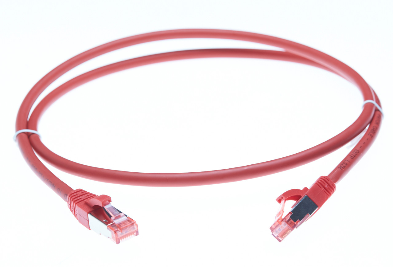 Image for 2m Cat 6A S/FTP LSZH Ethernet Network Cable. Red CX Computer Superstore