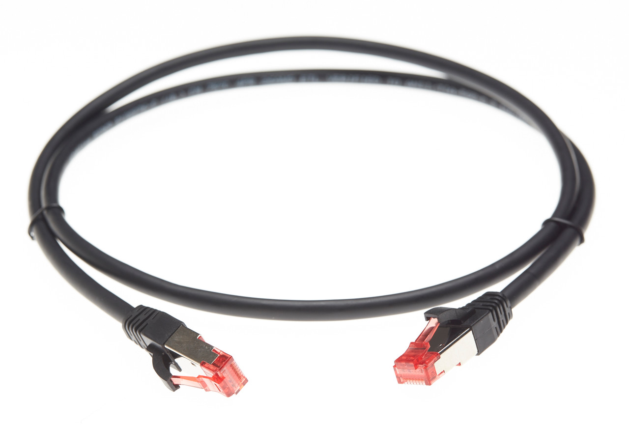 Image for 2m Cat 6A S/FTP LSZH Ethernet Network Cable. Black CX Computer Superstore